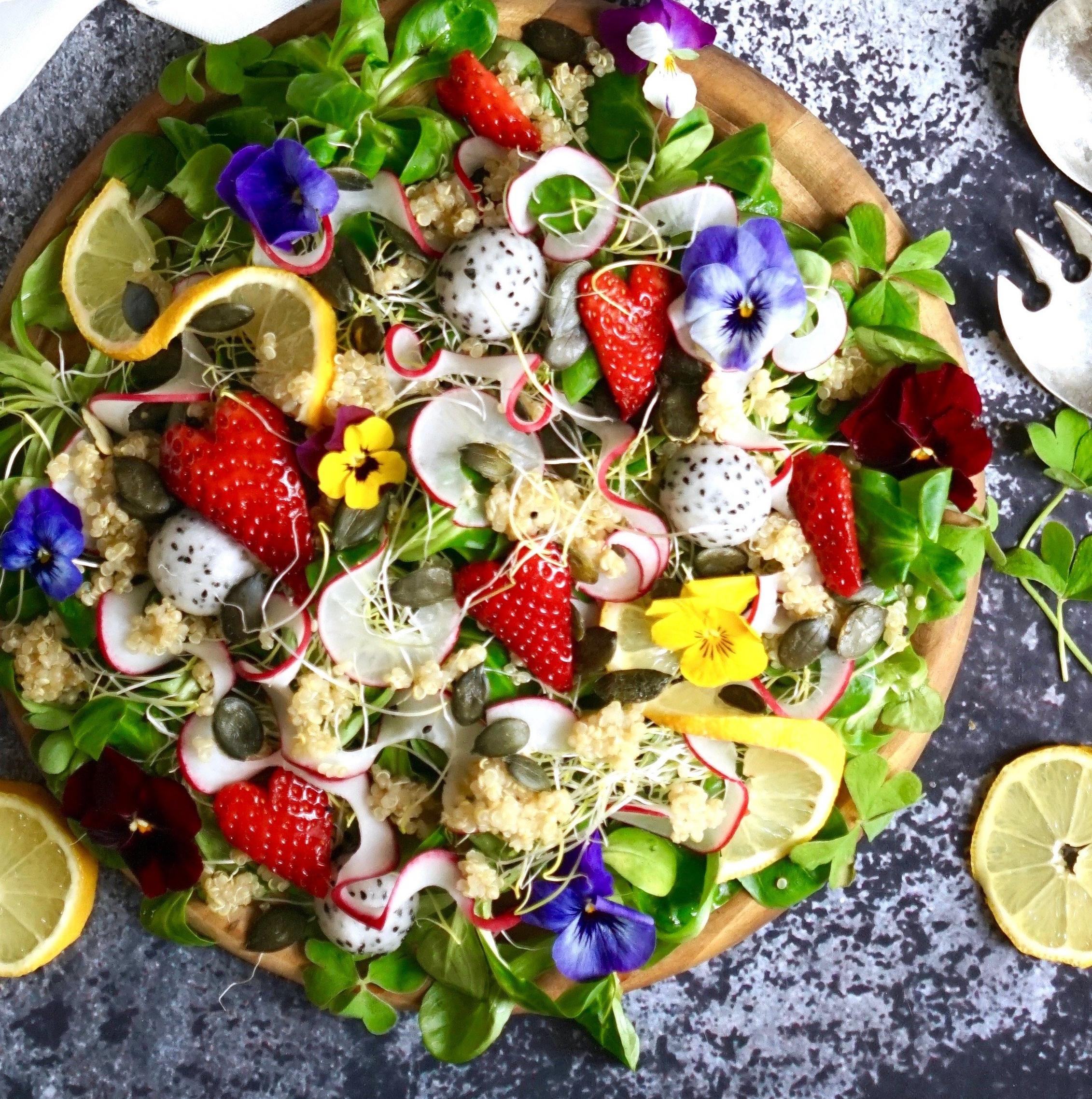 Frühlingssalat mit Quinoa