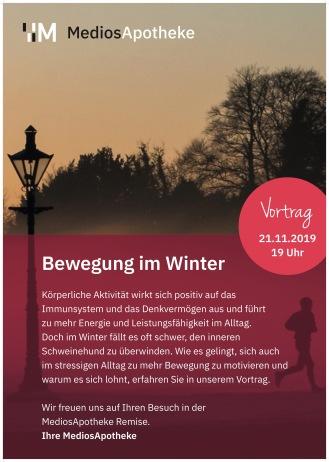 Vortrag Bewegung im Winter Antje Behrendt MediosApotheke