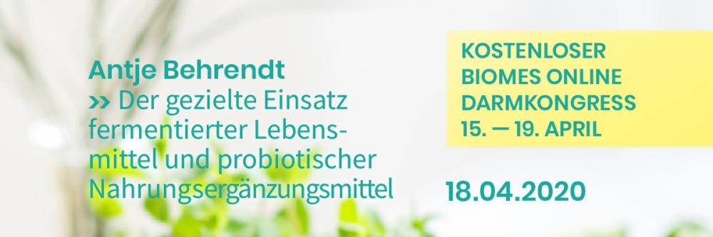 Ankündigung Darmkongress Antje Behrendt Probiotika